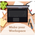 Make your workspace banner5 vector image vector image