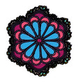 mandala flower design vector image