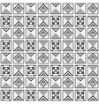 modern black and white geometrical tile pattern vector image vector image