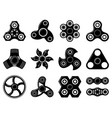 Monochrome of spinner toys at