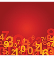 Number background red vector image