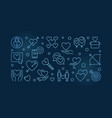 obsessive love blue outline or vector image vector image