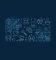 obsessive love blue outline vector image vector image