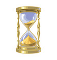 old gold hourglass time concept vector image vector image