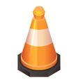 orange road cone icon isometric style vector image vector image