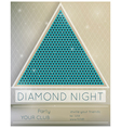 Party diamond night vector image