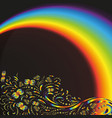 pattern on the background with a rainbow vector image vector image