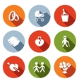 peoples lives flat icons set vector image vector image