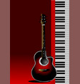 piano with guitar can be used as cover vector image