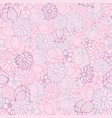 pink purple blue floral seamless pattern vector image