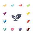 plant flat icons set vector image vector image