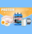protein products advertising template vector image vector image