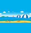relaxing sea lanscape seamless line vector image