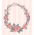 roses frame round vector image vector image
