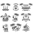set summer time vintage logos labels vector image vector image