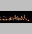 shenzhen light streak skyline vector image vector image