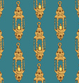Sketch Ramadan lantern in vintage style vector image vector image