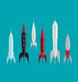 space rocket retro spaceship spacecraft vector image