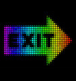 spectrum dotted exit arrow icon vector image vector image