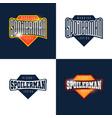 spoilerman alert funny slogan sport style emblem vector image vector image
