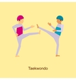 Sport people activities icon Taekwondo vector image