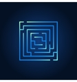 Square labyrinth blue icon vector image vector image