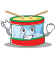successful toy drum character cartoon vector image vector image