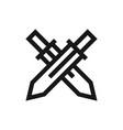swords icon vector image vector image