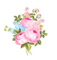 the rose elegant card vector image