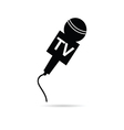 tv microphone in black vector image