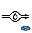 water pump sign with flow direction arrows vector image