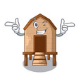 wink chiken coop isolated on a mascot vector image vector image