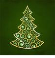 Xmas golden tree vector image vector image