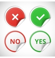 yes and no stickers vector image