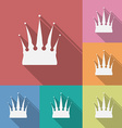 Icon of Crown Flat style vector image
