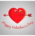 Valentine cartoon heart vector image