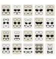 25 fashionable glasses simple icons set vector image