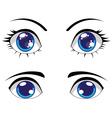 Cute Stylized Eyes vector image