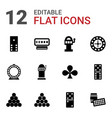 12 gambling icons vector image vector image
