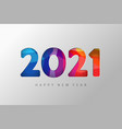 2021 new year banner paper colorful vector image