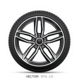 aluminum wheel car tire style sport vector image