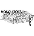 athose nasty mosquitoes text word cloud concept vector image vector image