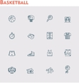 basketball icon set vector image vector image