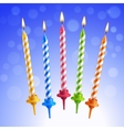Birthday candles set vector image