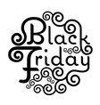 Black Friday Sale text Vintage Calligraphy vector image