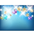 Blue Christmas card with copy space vector image vector image