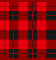 buffalo plaid seamless pattern alternating red vector image