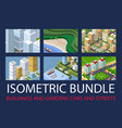 bundle set infrastructure vector image vector image