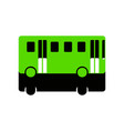 bus simple sign green 3d icon with black vector image
