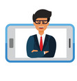 business mobile application businessman i vector image vector image